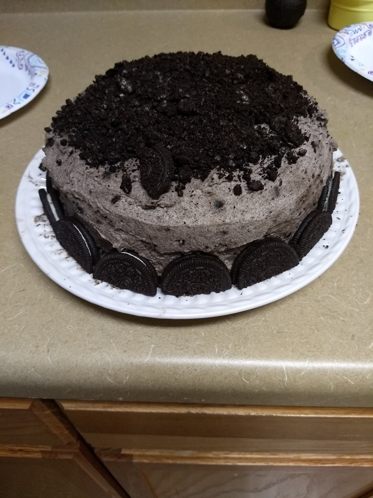 Oreo Cake on a Rainy Day