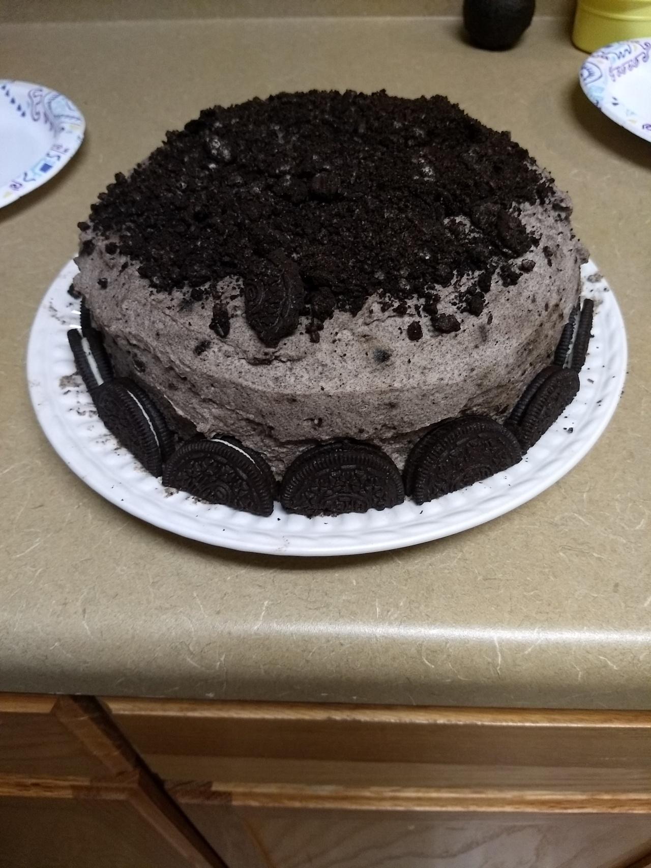 Oreo Cake on a RainyDay