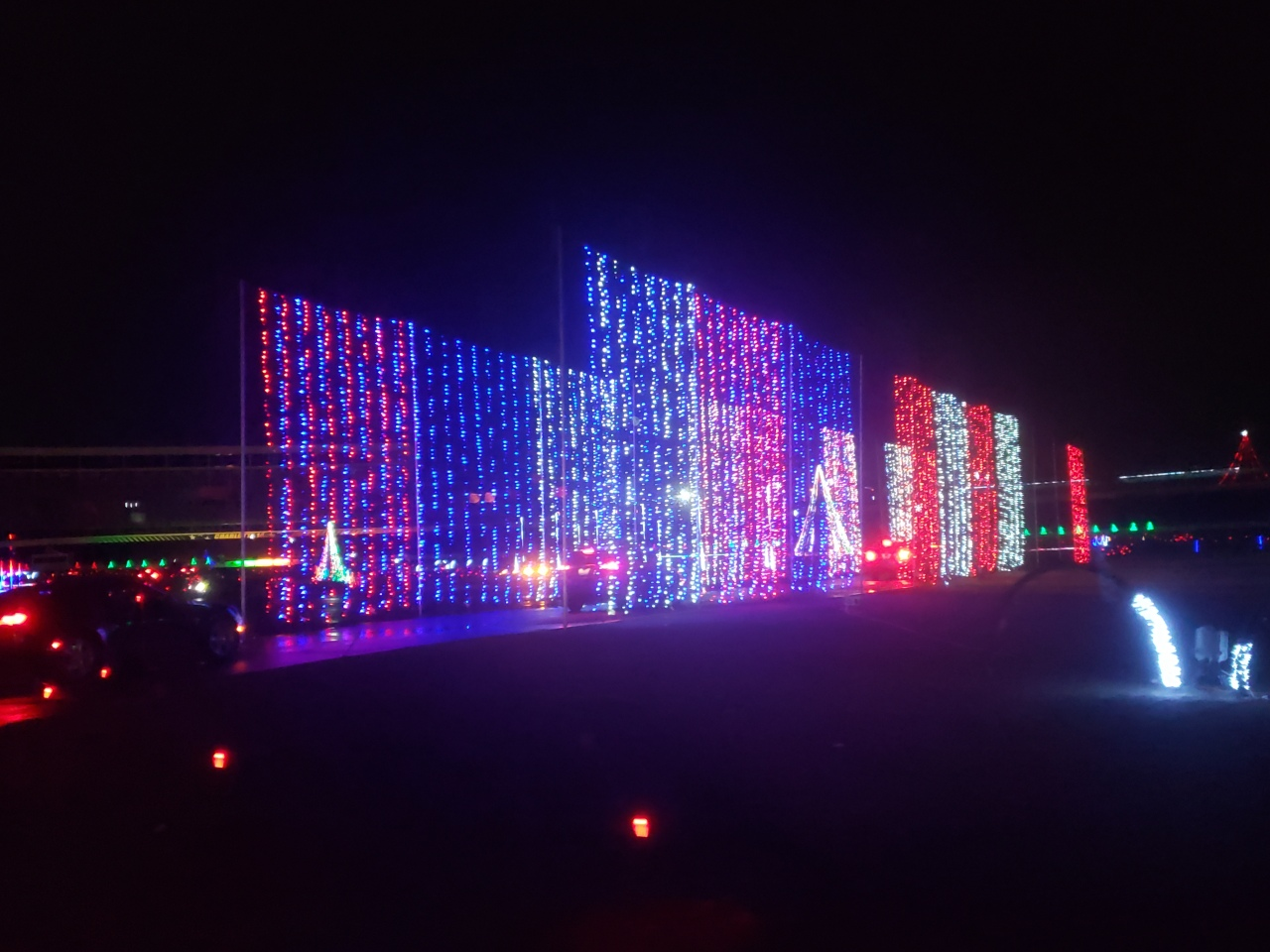Charlotte  Motor Speedway Drive Through Light Show