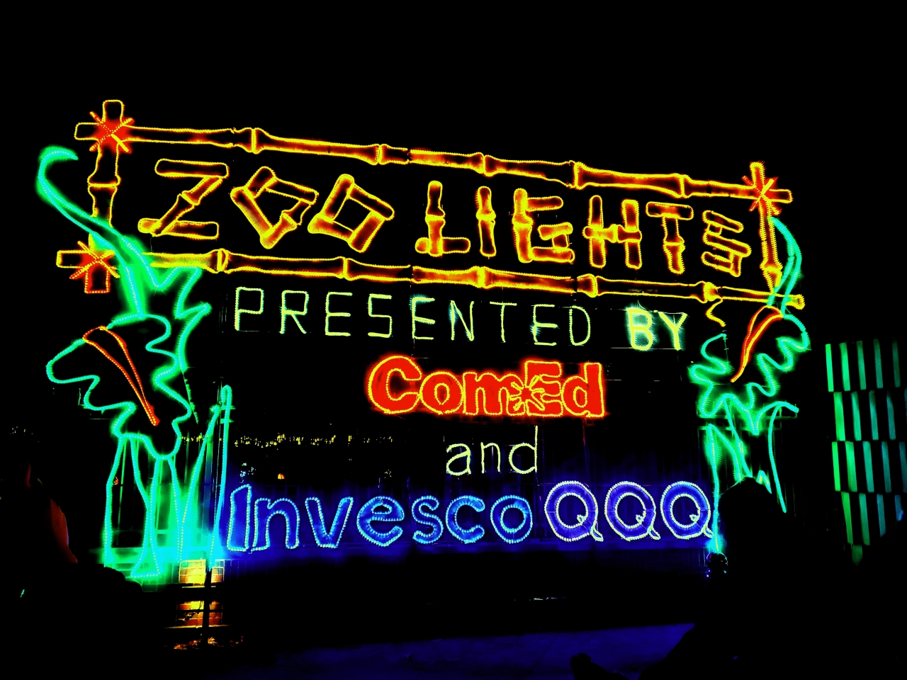 Zoo Lights at Lincoln Park Zoo in Chicago, Illinois