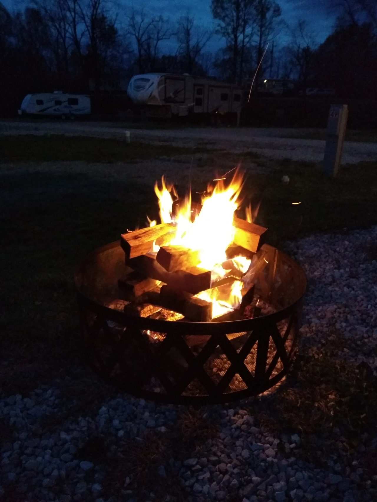 1st night of camping